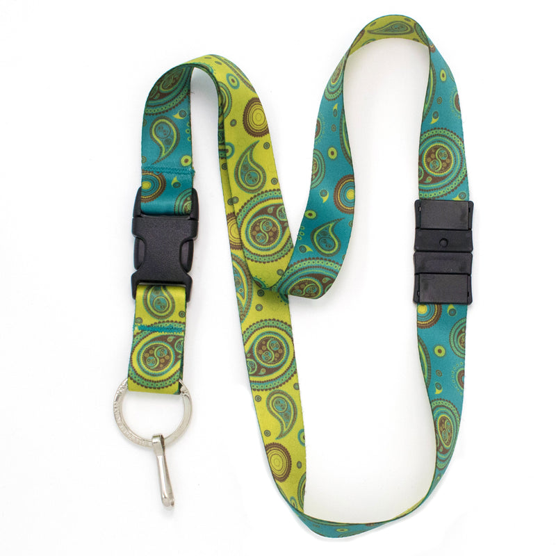 Buttonsmith Paisley Breakaway Lanyard - Made in USA - Buttonsmith Inc.