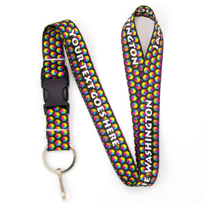 Buttonsmith Rainbow Hexes Custom Lanyard Made in USA