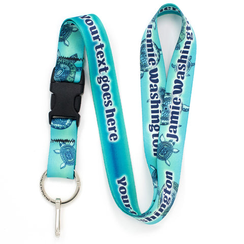 Buttonsmith Turtles Custom Lanyard - Made in USA