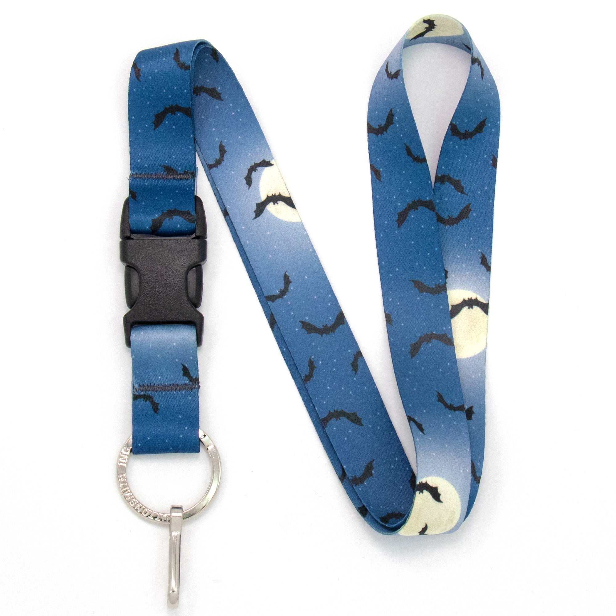 Buttonsmith Full Moon Halloween Premium Lanyard - Made in USA