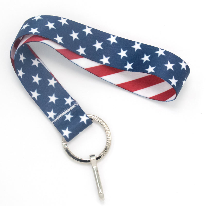 Buttonsmith Stars & Stripes Wristlet Lanyard Made in USA - Buttonsmith Inc.