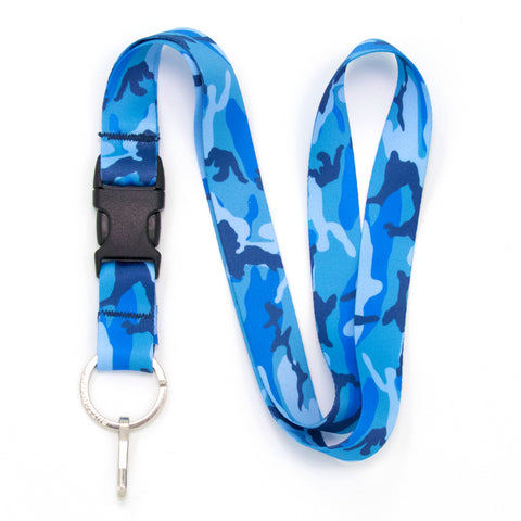 Buttonsmith Blue Camo Lanyard - Made in USA