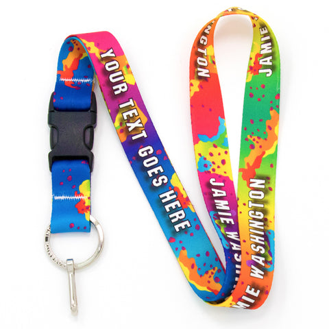 Buttonsmith Rainbow CamoChip Custom Lanyard Made in USA