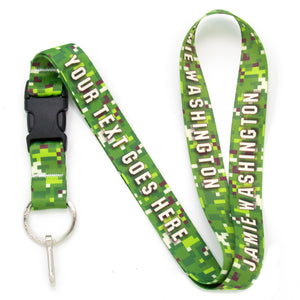 Buttonsmith PixelLand Camo Custom Lanyard Made in USA