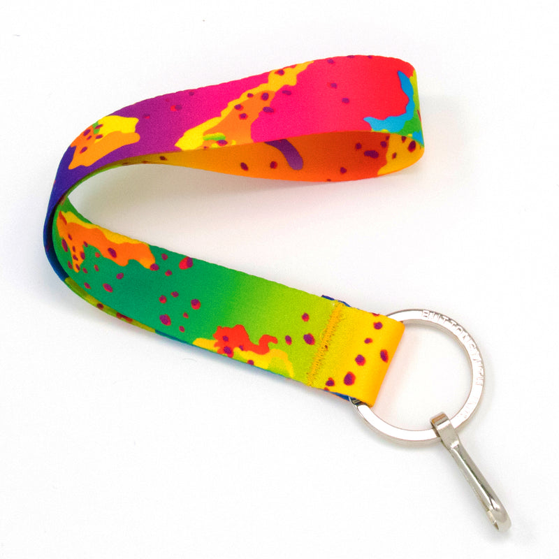 Buttonsmith Rainbow CamoChip Wristlet Lanyard Made in USA - Buttonsmith Inc.