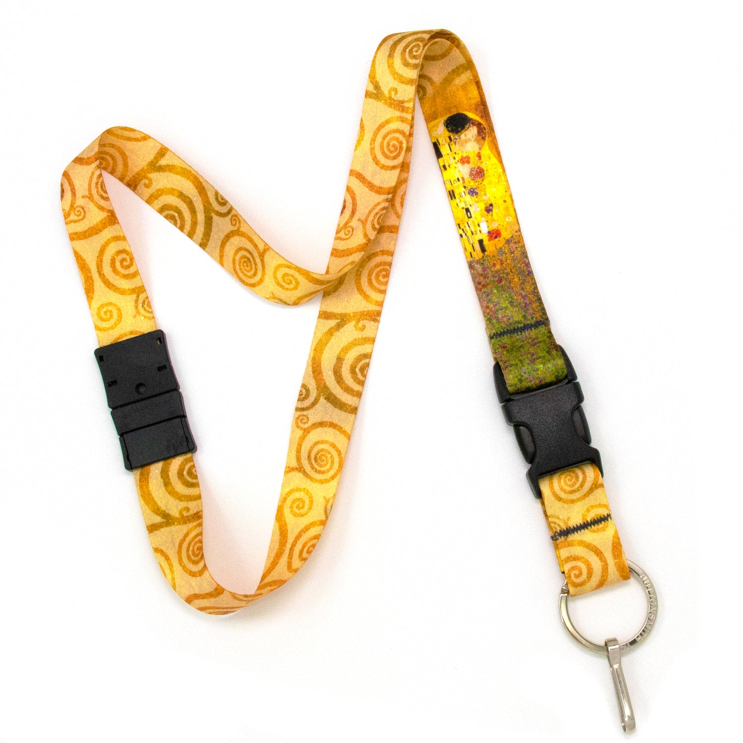 Buttonsmith Gustav Klimt Kiss Breakaway Lanyard - Made in USA