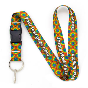 Buttonsmith Rainbow Arches Custom Lanyard Made in USA