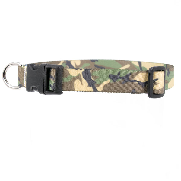 Buttonsmith Woodland Camo Dog Collar - Made in USA
