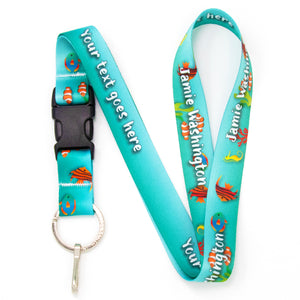 Buttonsmith Tropical Fish Custom Lanyard Made in USA