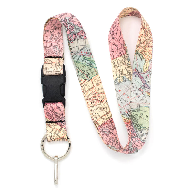 Buttonsmith Map Lanyard - Made in USA