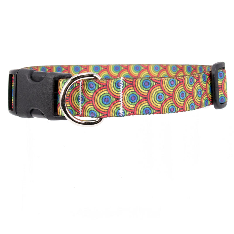 Buttonsmith Rainbow Arches Dog Collar - Made in USA - Buttonsmith Inc.