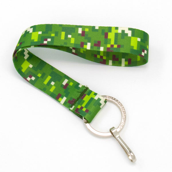 Buttonsmith PixelLand Camo Wristlet Lanyard - Made in USA