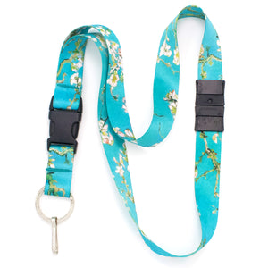 Buttonsmith Van Gogh Almond Blossom Breakaway Lanyard - Made in USA