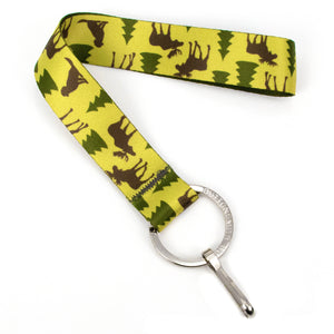 Buttonsmith Moose Woods Wristlet Lanyard Made in USA