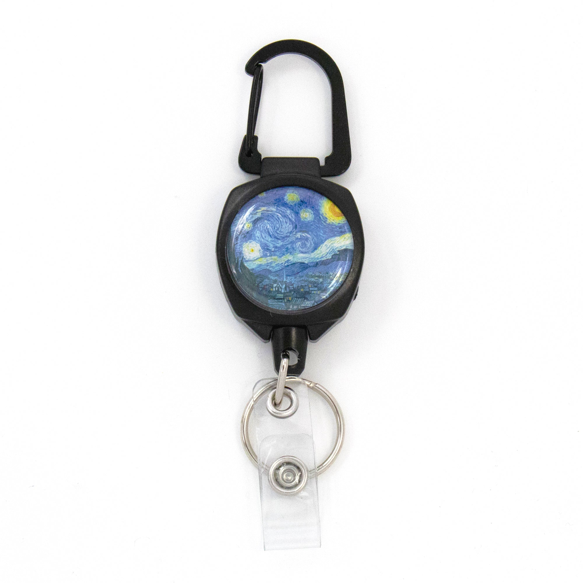 Buttonsmith® Van Gogh Starry Night Heavy Duty Sidekick Badge Reel - Made in USA
