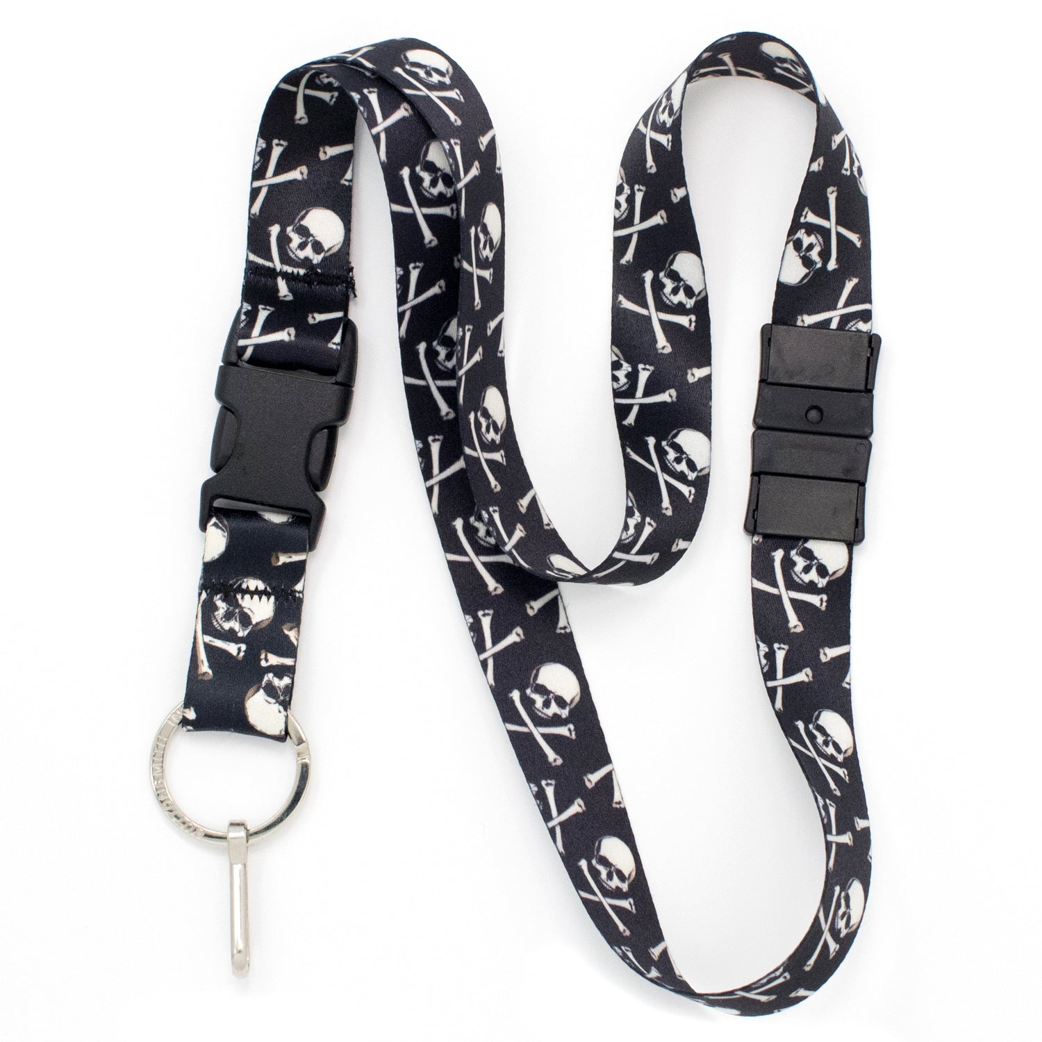 Buttonsmith Skulls Breakaway Lanyard - Made in USA