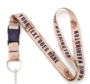 Buttonsmith Desert Camo Custom Lanyard Made in USA