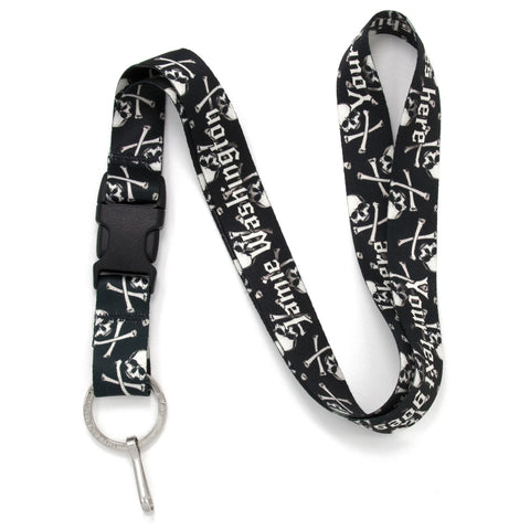 Buttonsmith Skulls Custom Lanyard Made in USA