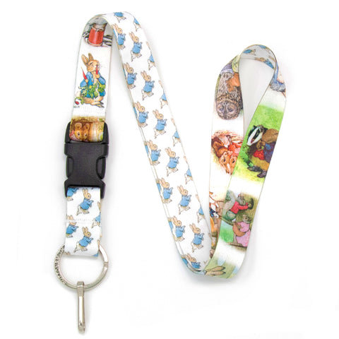 Buttonsmith Beatrix Potter Peter Rabbit Lanyard - Made in USA