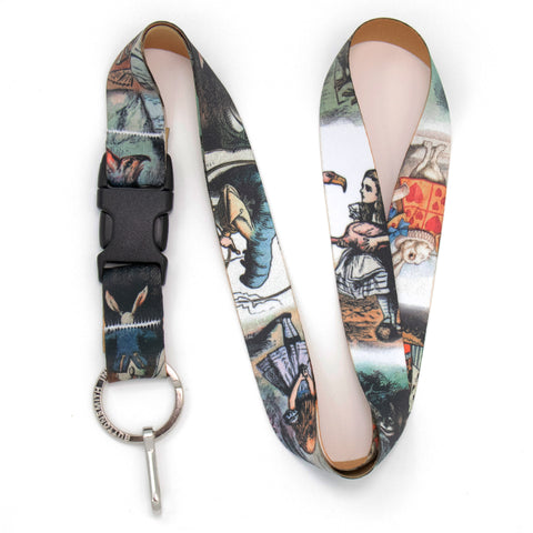 Buttonsmith Alice in Wonderland Lanyard - Made in USA