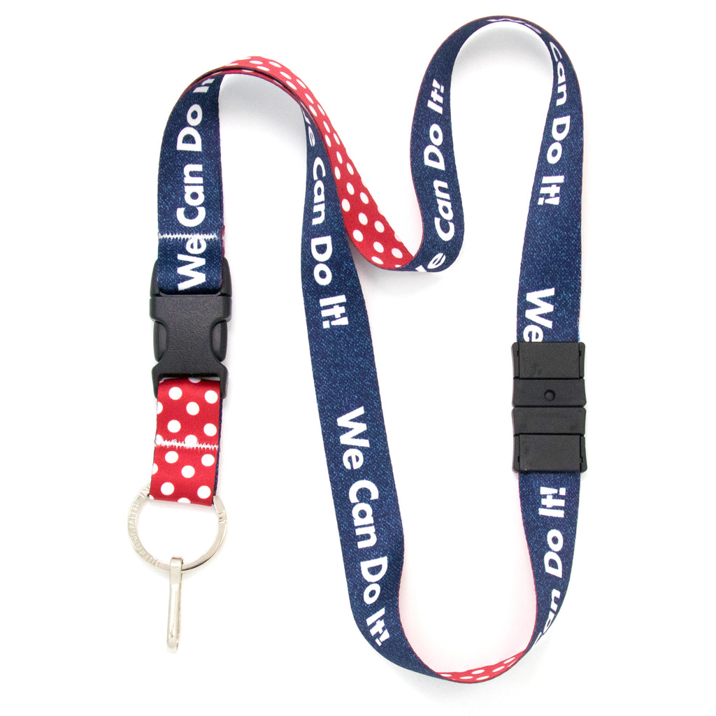 Buttonsmith We Can Do It Breakaway Lanyard - Made in USA