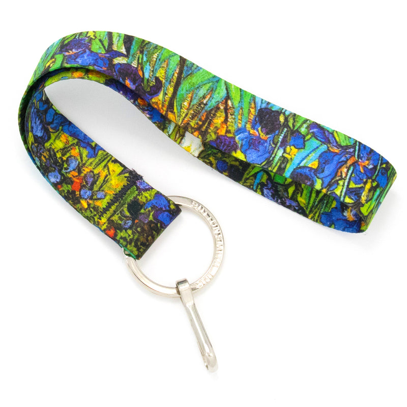Buttonsmith Van Gogh Irises Wristlet Lanyard Made in USA - Buttonsmith Inc.