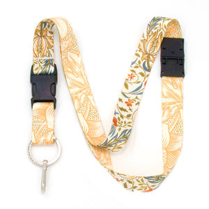 Buttonsmith William Morris Flora Breakaway Lanyard - Made in USA