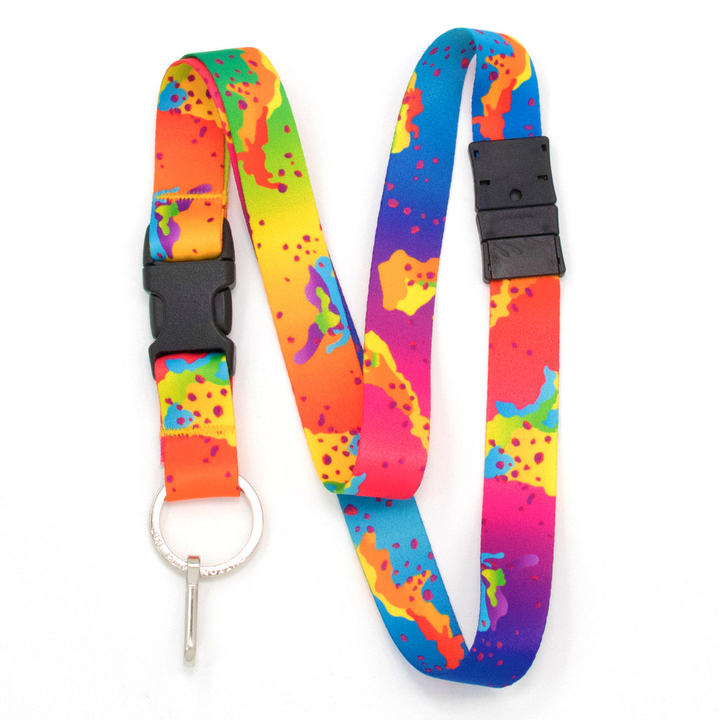 Buttonsmith Rainbow CamoChip Breakaway Lanyard - Made in USA
