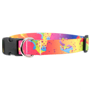 Buttonsmith Rainbow Camo Chip Dog Collar - Made in USA