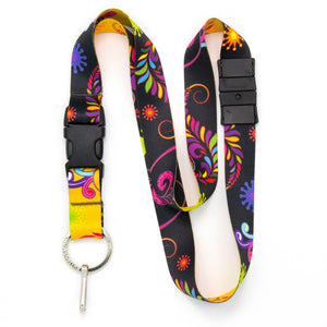 Buttonsmith Bright Floral Breakaway Lanyard - Made in USA