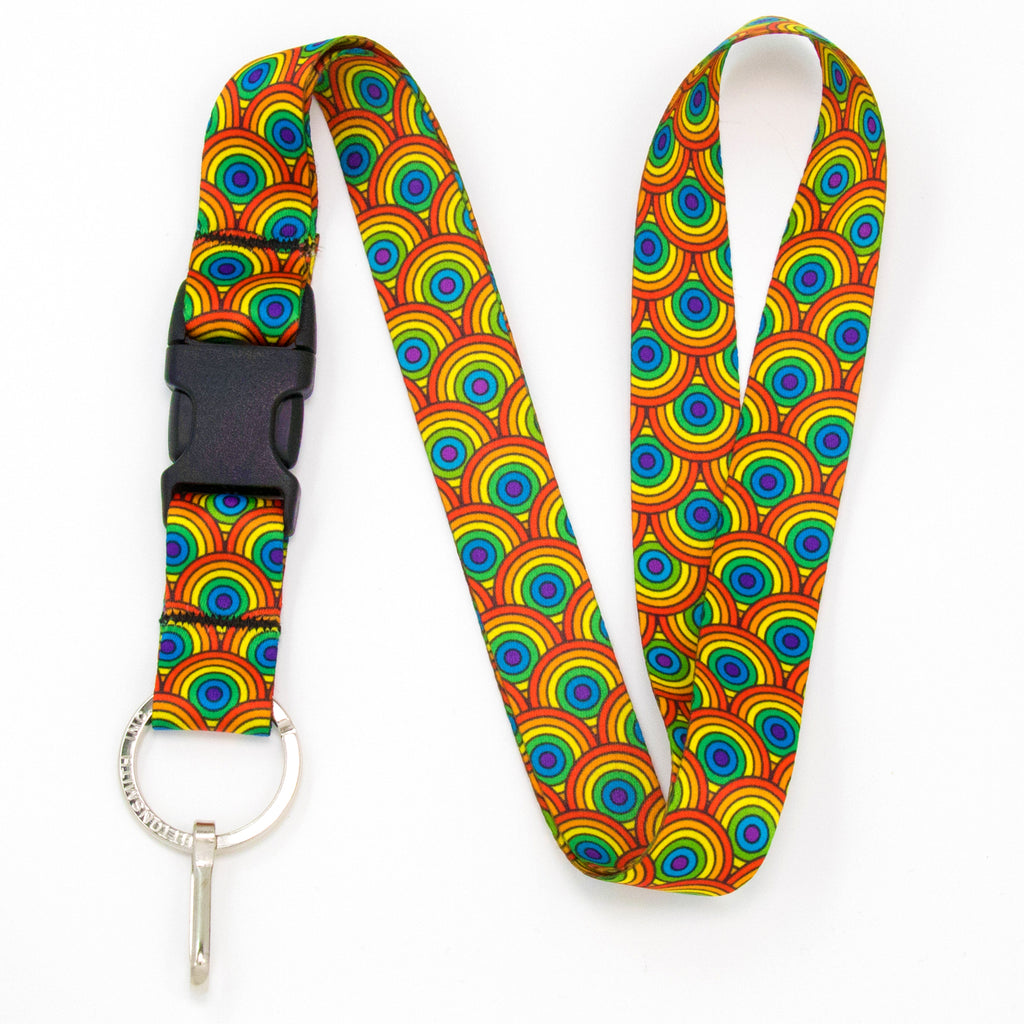 Buttonsmith Rainbow Arches Lanyard - Made in USA