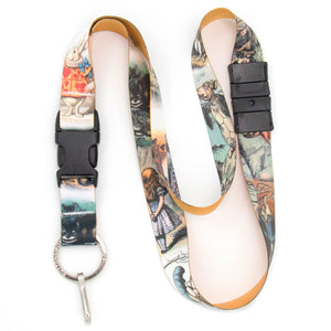 Buttonsmith Alice in Wonderland Breakaway Lanyard - Made in USA