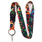 Buttonsmith Tiffany Peacock Lanyard - Made in USA
