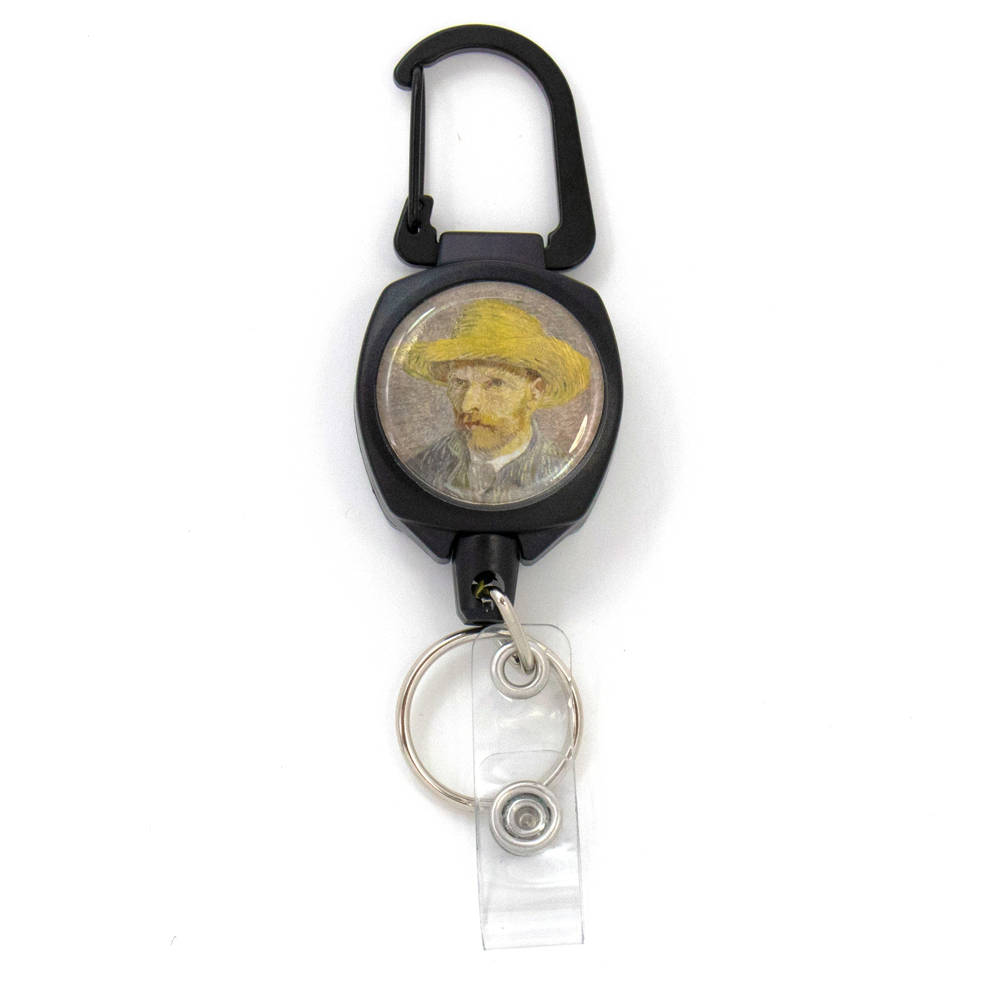 Buttonsmith® Van Gogh Straw Hat Heavy Duty Sidekick Badge Reel