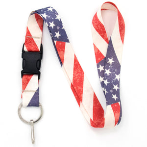 Buttonsmith Old Glory Premium Lanyard - Made in USA