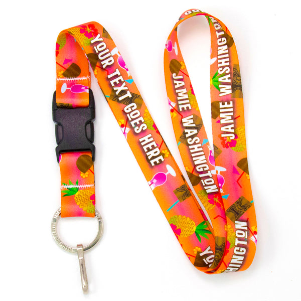 Buttonsmith Tiki Drink Custom Lanyard Made in USA