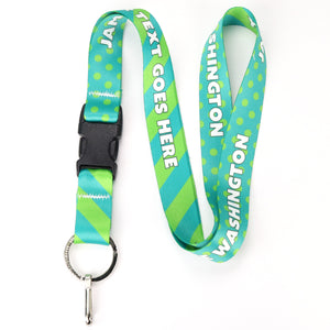 Buttonsmith Aqua Dots Custom Lanyard - Made in USA
