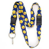 Buttonsmith Emoji Blue Breakaway Lanyard - Made in USA