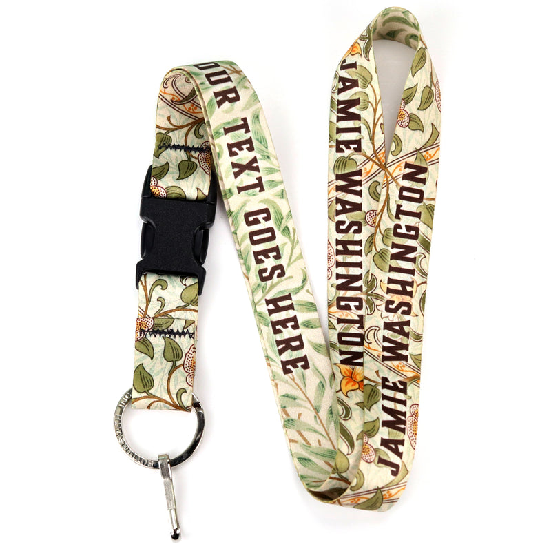 Buttonsmith William Morris Daffodils Custom Lanyard - Made in USA - Buttonsmith Inc.