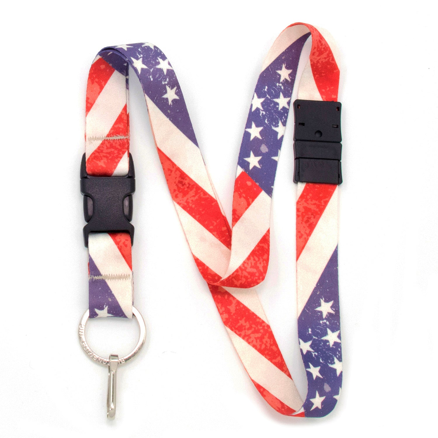 Buttonsmith Old Glory Breakaway Lanyard - Made in USA