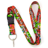 Buttonsmith Tiffany Poppies Custom Lanyard Made in USA