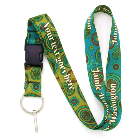 Buttonsmith Paisley Custom Lanyard Made in USA