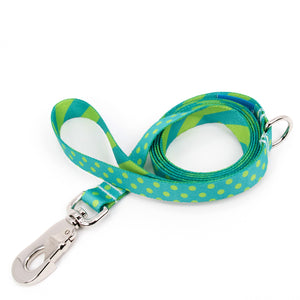 Buttonsmith Aqua Dots Dog Leash Fadeproof Made in USA
