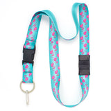 Buttonsmith Flamingos Breakaway Lanyard - Made In U.S.A.