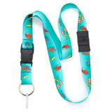 Buttonsmith Tropical Fish Breakaway Lanyard - Made in USA