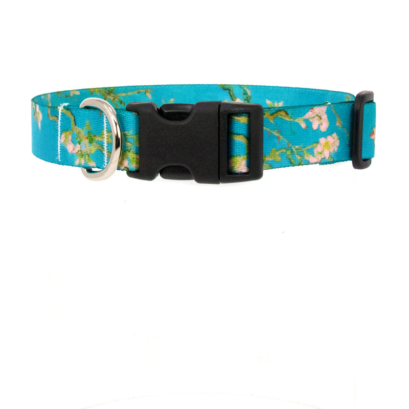 Buttonsmith Van Gogh Almond Blossoms Art Dog Collar - Made in USA - Buttonsmith Inc.