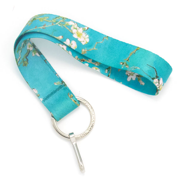 Buttonsmith Van Gogh Almond Blossom Wristlet Lanyard - Made in USA