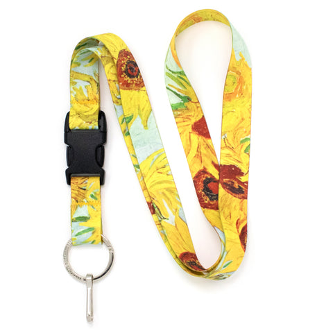 Buttonsmith Van Gogh Sunflower Premium Lanyard - Made in USA