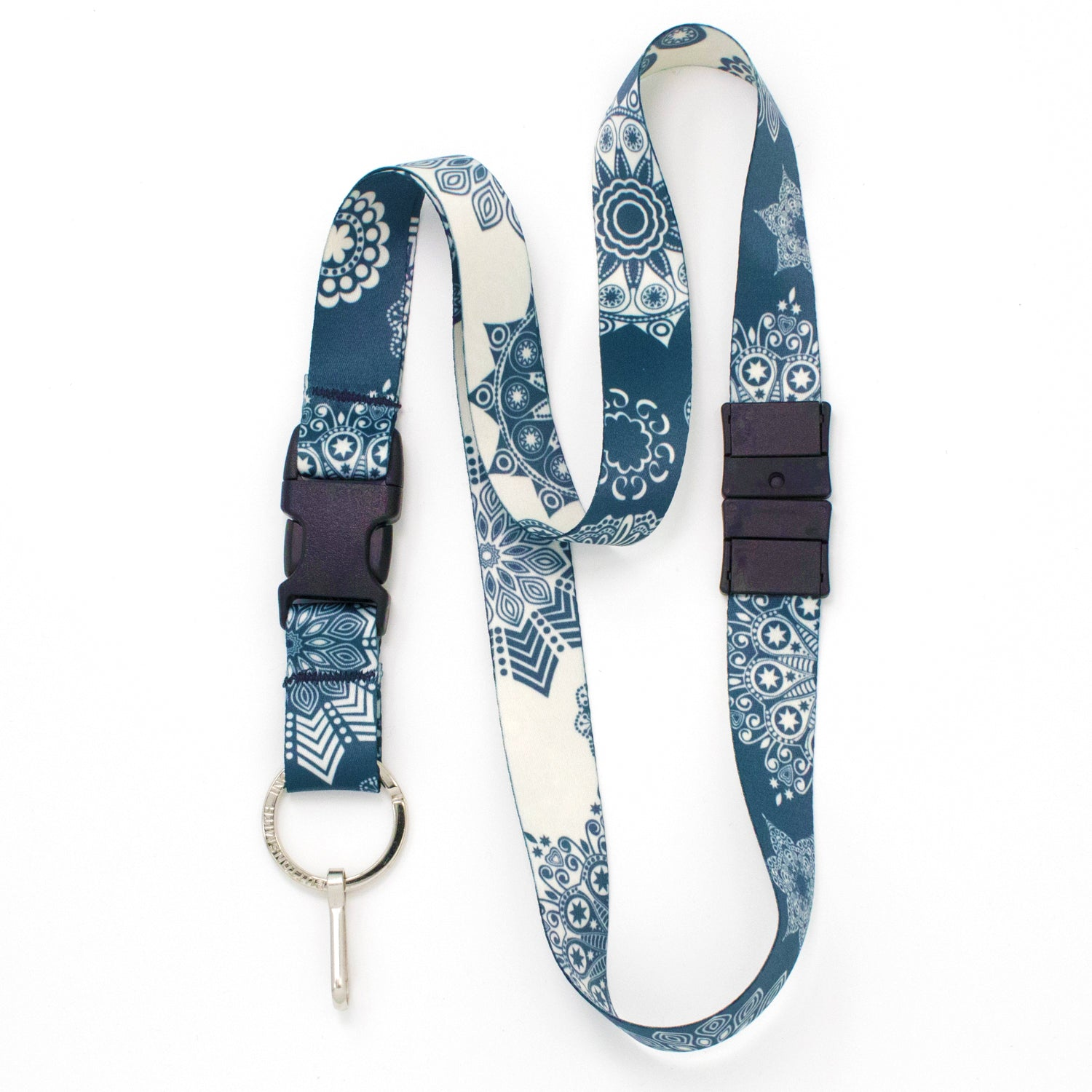 Buttonsmith Denim Lace Breakaway Lanyard - Made in USA
