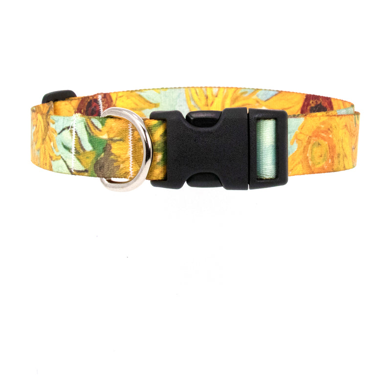 Buttonsmith Van Gogh Sunflowers Art Dog Collar - Made in USA - Buttonsmith Inc.